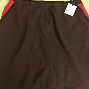 NWT CALVIN KLEIN Aubergine Straight/Pencil Skirt
